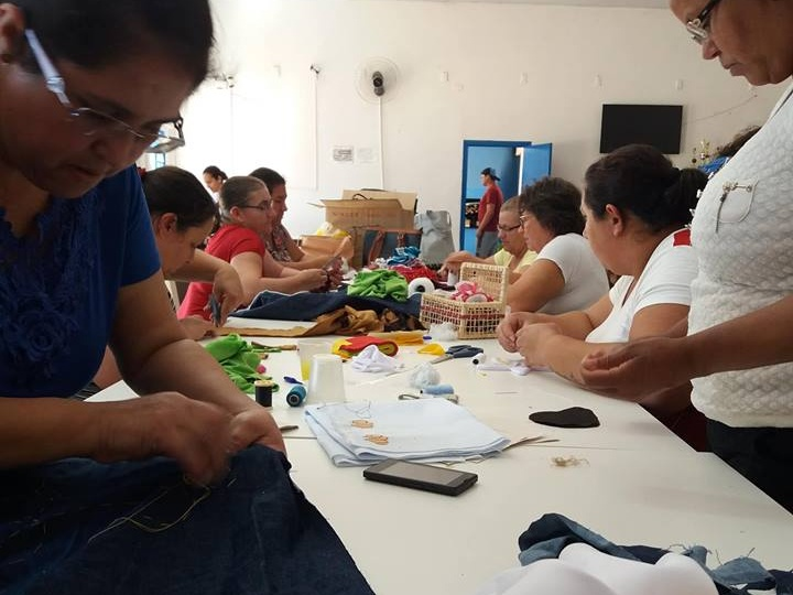 O projeto emprega mulheres em situação de vulnerabilidade social. Foto: Divulgação