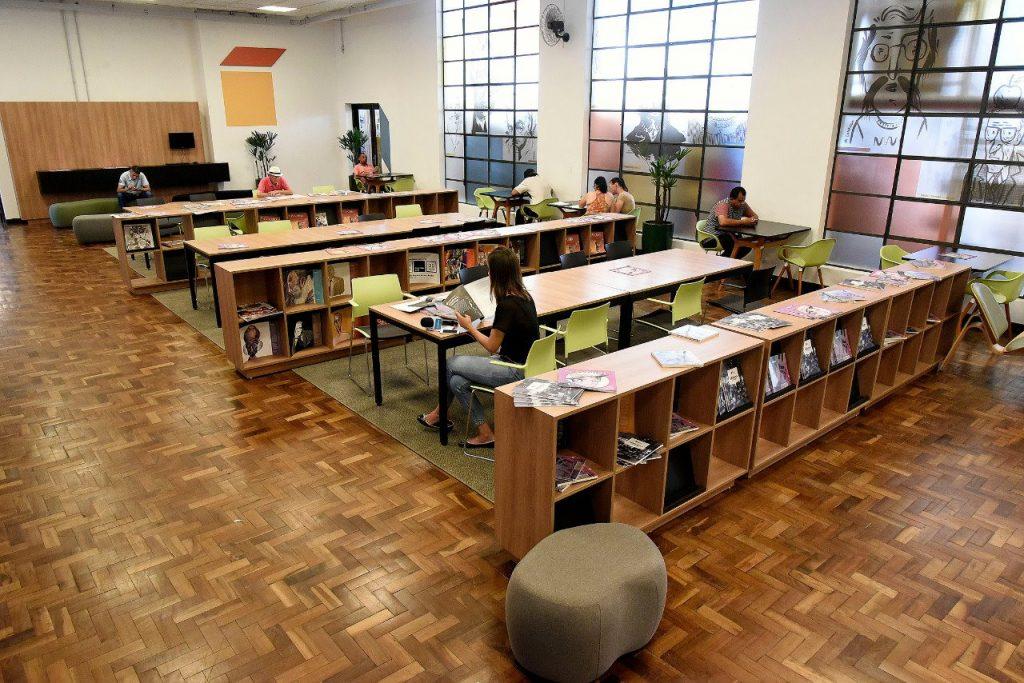 Ótimos espaços para leitura. Foto Divulgação